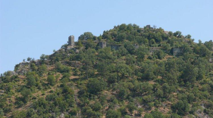 Derağzı Kalesi - Likya Kalesi - Kaş Dirgenler Köyü Kale