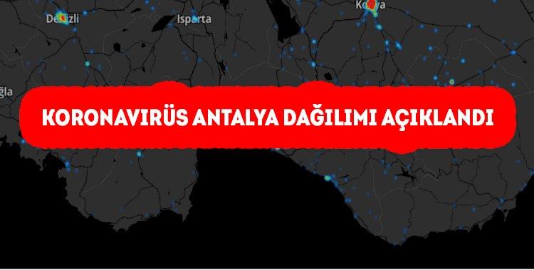 Koronavirüs Antalya dağılımı açıklandı