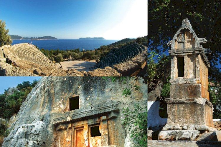 Kaş Kültür Varlıkları - Anıt Yapılar - Arkeolojik Sit Alanları - Doğal Koruma Alanları